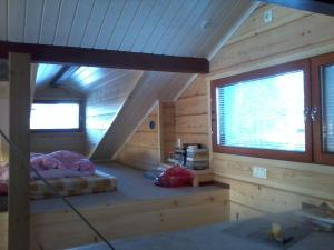 Zona de estar de Aamuruskon Ukkola Cottage