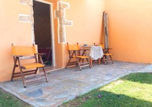 A porch or other outdoor area at Elias Rooms & Studios
