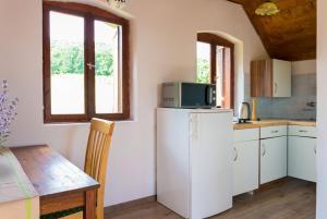 A kitchen or kitchenette at Tagyon Birtok Panoráma Apartman