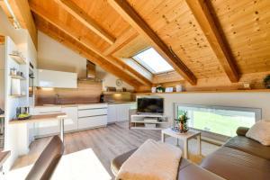 Küche/Küchenzeile in der Unterkunft 5 Sterne Ferienwohnung am See