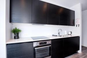 A kitchen or kitchenette at Svala Apartments