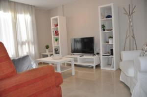 A television and/or entertainment centre at Apartment Canteras Beach Anadela