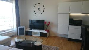 Televizorius ir (arba) pramogų centras apgyvendinimo įstaigoje Central Aida Apartment