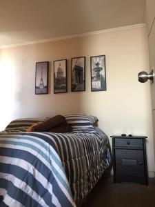 Cama o camas de una habitación en Arriendo por día