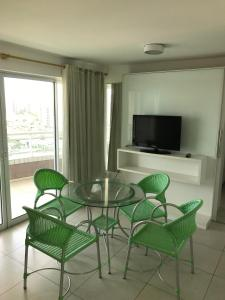 A television and/or entertainment center at Studio Iracema