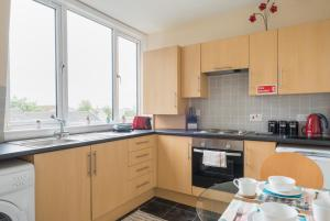 A kitchen or kitchenette at South Mount Apartments