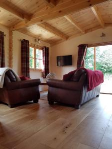 A seating area at West Pool Cabin