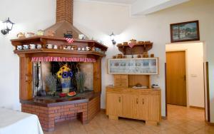 Kuchyň nebo kuchyňský kout v ubytování Nadia's house