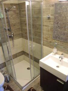 A bathroom at Apartmany Rudolf