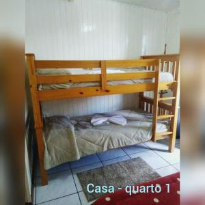 A bunk bed or bunk beds in a room at Residencial P. Harris