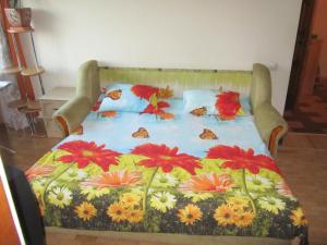 Кровать или кровати в номере Апартаменты с видом на горы 2 комнаты