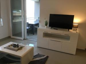 A television and/or entertainment centre at Apartman ADRIATIC
