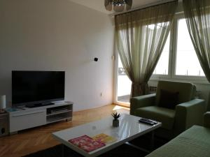 A television and/or entertainment center at Apartman ANE