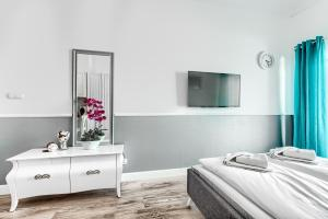 A television and/or entertainment centre at Apartamenty AmberHome