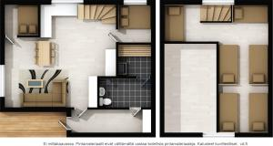 Pelan lantai bagi LeviRoyal Eturakka Cottage