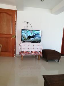 Una televisión o centro de entretenimiento en Guadalupe