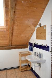 Koupelna v ubytování Blažkův Statek