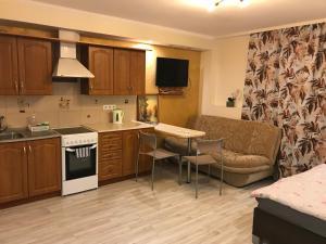 Majoituspaikan Rävala pst 11 Apartment keittiö tai keittotila