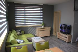 A seating area at Apartments Severka