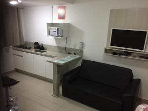 A television and/or entertainment center at Flat Service Areiao