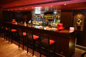 The lounge or bar area at Markazia Suites