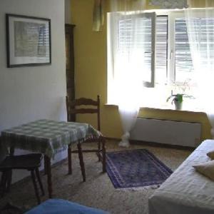 A seating area at Ferienhaus Seespitz