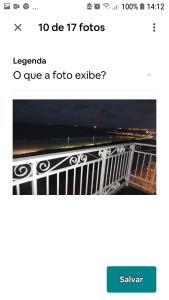 The floor plan of Apartamento Beira mar