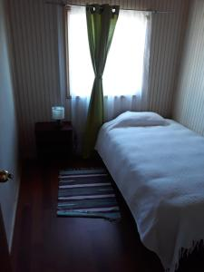 A bed or beds in a room at Cabañas la Estrella