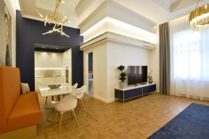 A television and/or entertainment center at Broadway Residence