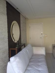Cama o camas de una habitación en Cobertura em Canasvieiras
