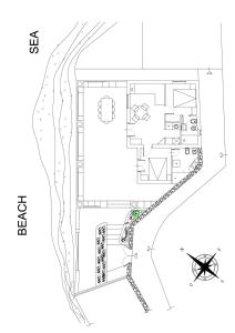 The floor plan of Casa 34 Dicembre