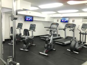 The fitness center and/or fitness facilities at Stunning Ocean View 37th Floor Corner Unit
