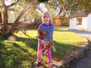 A family staying at Letterfrack Farm Cottage