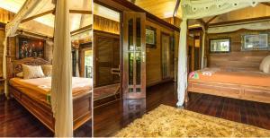 Postel nebo postele na pokoji v ubytování Rohotu Fare