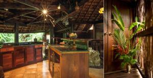 Kuchyň nebo kuchyňský kout v ubytování Rohotu Fare