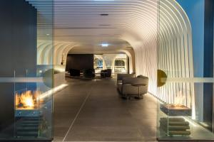 The lobby or reception area at SKYE Suites Sydney