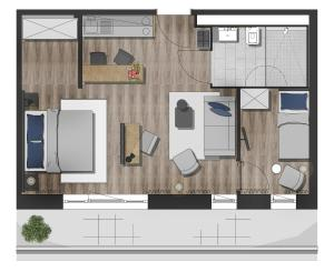 The floor plan of Arivo Forchheim