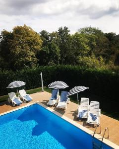 A view of the pool at Villa Nin or nearby