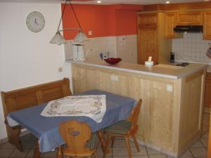 Küche/Küchenzeile in der Unterkunft Haus am Kreuzbühl