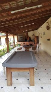 A pool table at Sitio Zocatelli