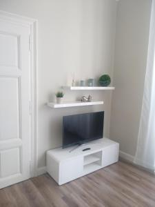 A television and/or entertainment center at DoMo Apartments