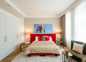 Cama o camas de una habitación en Apartments Rooseveltplatz