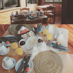Breakfast options available to guests at Terrazas del Palena