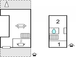 The floor plan of Holiday home Holunderweg A