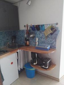 Küche/Küchenzeile in der Unterkunft Hotelturm