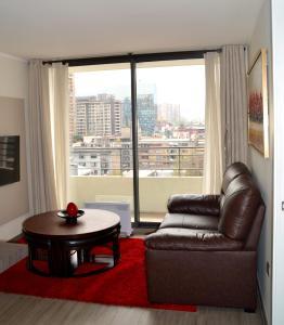 Zona de estar de Nuevo departamento en el corazón de Santiago