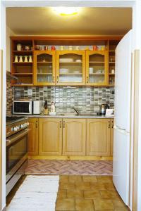 Kuchyň nebo kuchyňský kout v ubytování Apartment Marta