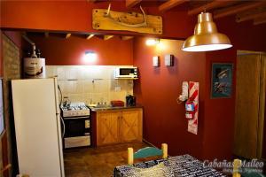Una cocina o kitchenette en Cabañas Malleo