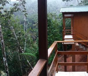 A balcony or terrace at Sitio Flores da Mata