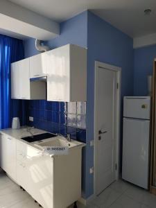 Кухня или мини-кухня в Квартира в Олимпийском парке